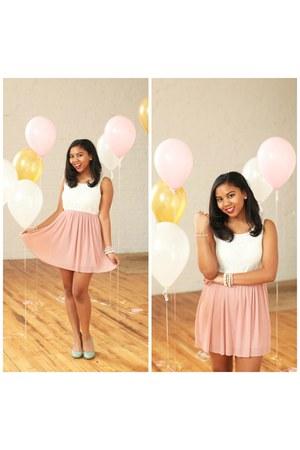 light pink Agaci dress - aquamarine teal kate spade heels