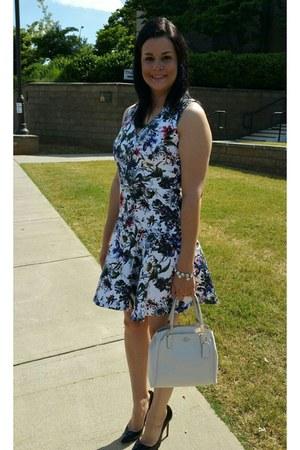 Rebecca Taylor dress - white coach bag - black Christian Louboutin heels