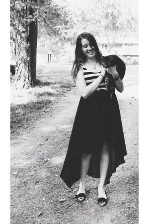 black high-low Love Culture skirt - black Dolce Vita flats
