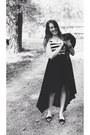 Black-high-low-love-culture-skirt-white-striped-la-heart-bodysuit