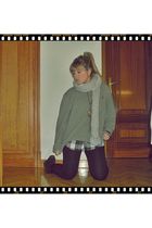 silver Zara scarf - gray Ralph Lauren sweater - black Primark shirt - black Zara