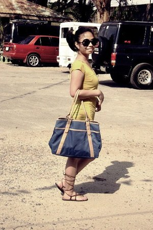 Nine West bag - shorts - sunglasses - sandals - blouse