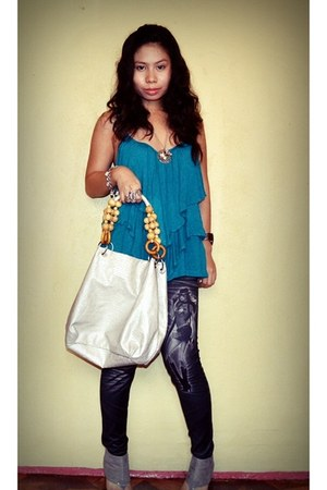 leggings - bag - watch - accessories - blouse - necklace