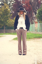 c&a hat - suede Zara boots - c&a jacket - turtleneck H&M sweater