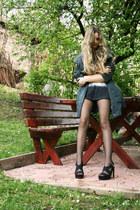 H&M shorts - parka Mango jacket - print Mango t-shirt - platform H&M sandals