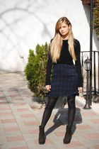 Zara dress - Bata boots - Zara sweater