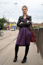 H&M bag - Miss Sixty dress - Tally Weijl jacket - over the knee H&M socks