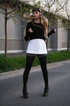 cropped Zara sweater - H&M shorts - loose Mango t-shirt