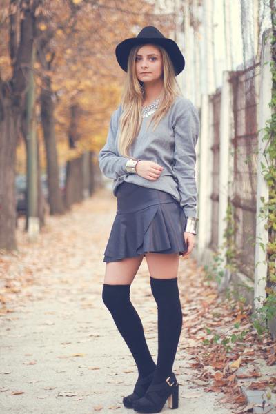 H&M hat - platform H&M sandals - Zara skirt