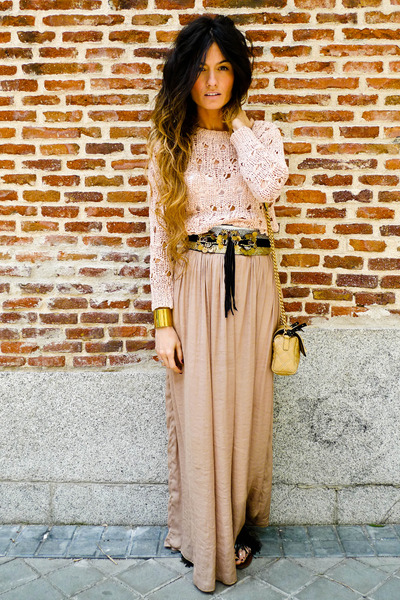 Zara skirt - Primark sweater - Zara belt