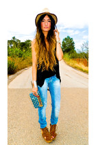 Stradivarius jeans - AMERICAN VINTAGE t-shirt - Jeffrey Campbell wedges