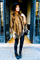 poncho Las Dalias cape - Jeffrey Campbell shoes - Phillip Lim bag