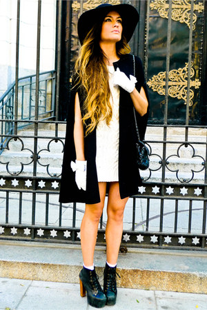 Zara cape - Jeffrey Campbell shoes - H&M Kids dress - Chanel bag - gloves