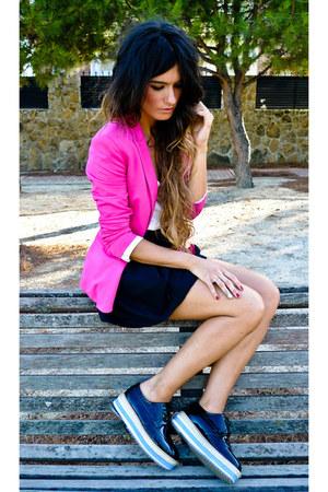 H&M skirt - romwe shoes - Zara blazer