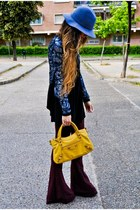 balenciaga bag - H&M hat - sequined Mango jacket - American Gold pants