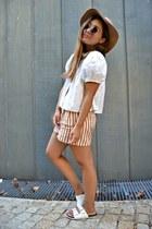 Zara blouse - Zara shorts - Primark sandals