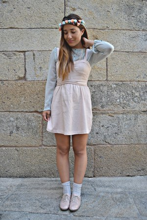 suiteblanco dress - Lefties socks - peach suiteblanco flats