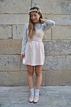 suiteblanco dress - Lefties socks - peach suiteblanco flats