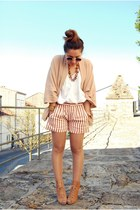 Zara shorts - vintage sunglasses - Zara cardigan