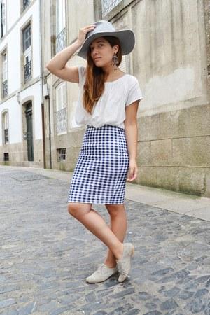 Zara hat - pull&bear skirt - Zara flats