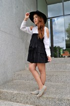 vintage dress - Dayaday hat - Zara flats - suiteblanco blouse