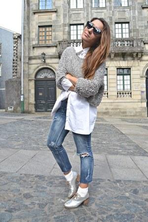 Bershka jumper - bershka blouse - Bershka flats
