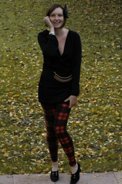 H&M top - belt - H&M skirt - H&M pants - shoes