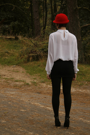 hat - blouse - skirt - shoes