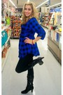 Black-charlotte-rouse-boots-blue-forever-21-blouse-h-m-leggings-wet-seal-n