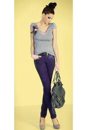 purple maddalena jeans - silver maddalena top - silver maddalena accessories