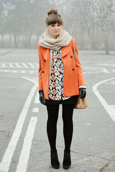 orange Chicwish coat