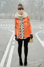 Orange-chicwish-coat