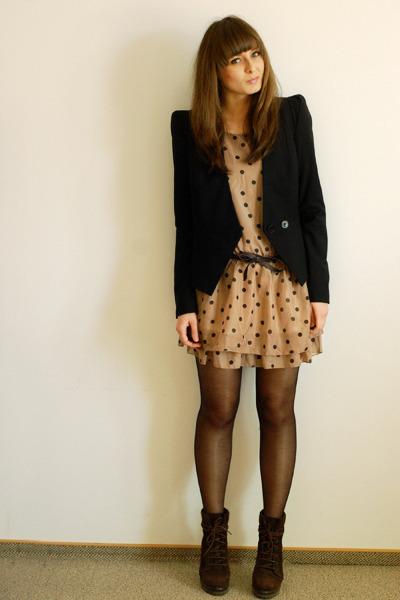 c5a3dc3e4 dark brown Zara boots - light brown Wholesale-Dress dress - black Vero Moda  blaz