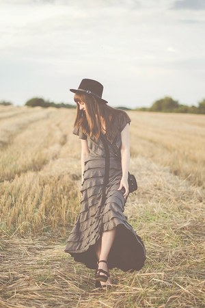 charcoal gray free people dress
