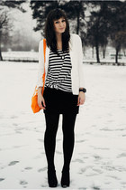 carrot orange Alefajnatorebkapl bag - ivory Chicwish blazer