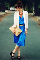 romwe bag - romwe dress - Chicwish blazer