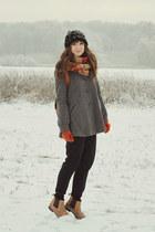heather gray H&M coat