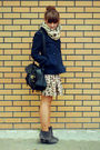 Blue-h-m-jacket-beige-zara-skirt