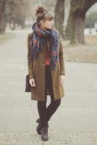 dark khaki pull&bear coat