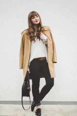 camel romwe coat
