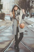 heather gray La Redoute coat