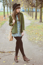 lime green DKNY coat