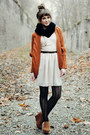 Love-dress-black-romwe-tights-romwe-cardigan-bronze-papilionpl-wedges