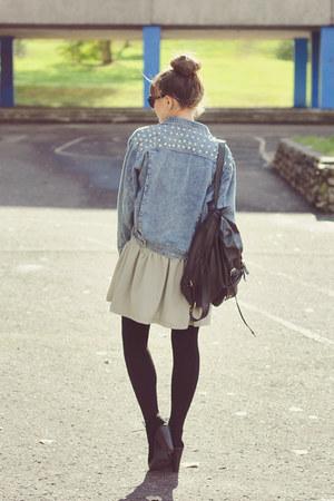 sky blue romwe jacket