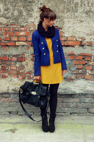 black BLANCO bag - blue H&M blazer