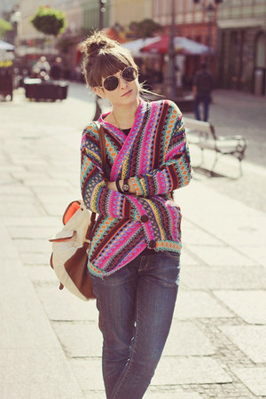 purple romwe cardigan