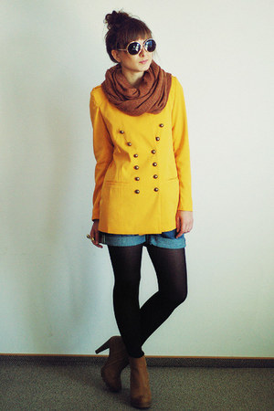yellow romwe blazer