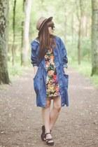 red Choies dress - blue La Redoute coat