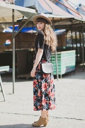 salmon new look skirt