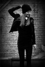 Black-beanie-h-m-hat-black-h-m-dress-black-leather-new-look-jacket
